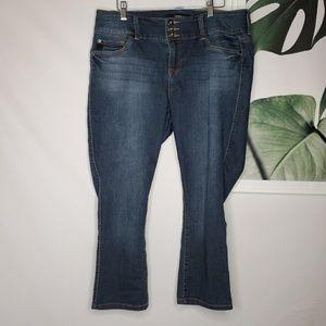 Torrid High Rise Crop Jeans Dark Wash